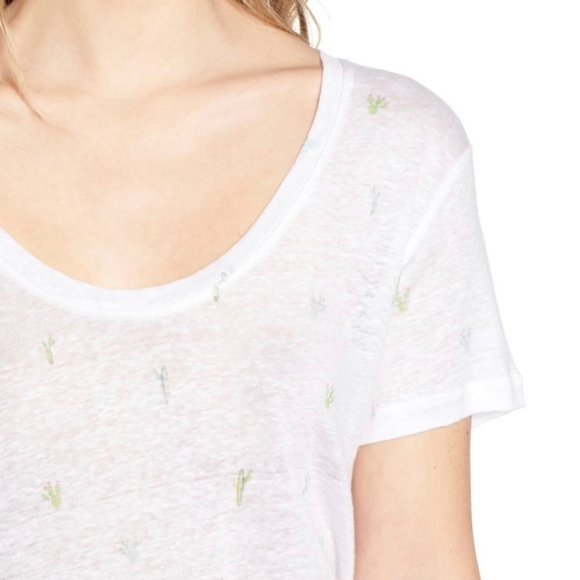 Rails | watercolor Luna cactus linen tee shirt NWT